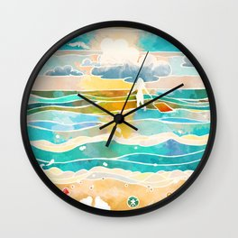 Bittersweet waves Wall Clock
