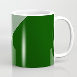 Forest Green Angles Coffee Mug