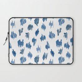 Brushstrokes of blue paint Laptop Sleeve