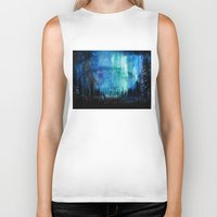 northern lights Biker Tanks featuring Northern Lights by VivianLohArts