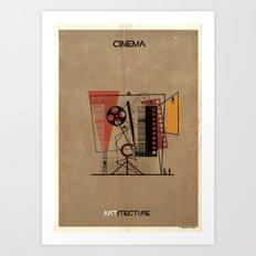 06_Cinema_ARTitecture Art Print