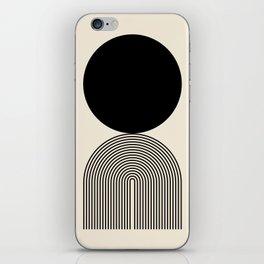 Abstraction_BLACK_DOT_LINE_ART_Minimalism_003C iPhone Skin
