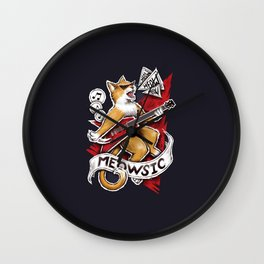 Meowsic Wall Clock