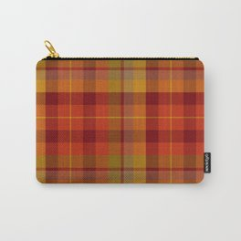Plaid Check Stripe Pattern in Christmas Colors Carry-All Pouch
