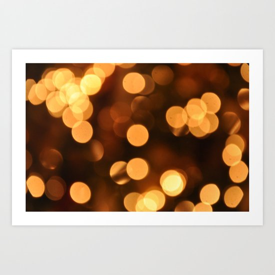 Bokeh Bokeh Bokeh Bokeh (for devices) Art Print