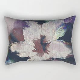 LILY FLOWER ABSTRACT/FOGGY NIGHT Rectangular Pillow