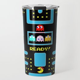 pac-man blue Travel Mug