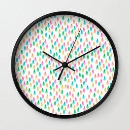 Glass Drops Wall Clock