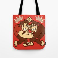 wreck it ralph Tote Bags featuring Let's Wreck it! by MeleeNinja