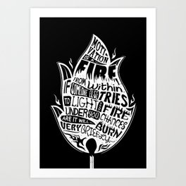 Lab No. 4 Chances Will Burn Very Briefly Stephen R. Covey Motivational Quotes Art Print