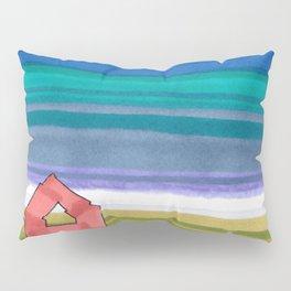 American Farm Landscape Blue Stripes 82 Pillow Sham