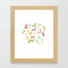 Lucky Geckos Framed Art Print