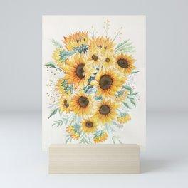 Loose Watercolor Sunflowers Mini Art Print