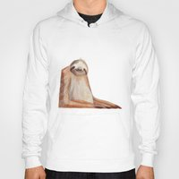 sloth Hoodies featuring sloth by Wiebke Rauers