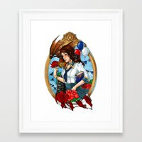 bioshock infinite Framed Art Prints featuring BioShock Infinite by Little Lost Forest