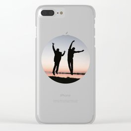 Sunset Jump Clear iPhone Case
