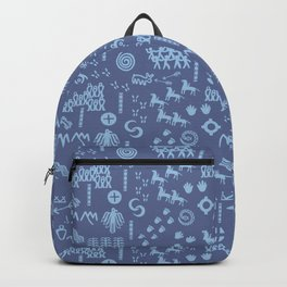 Peoples Story - Blue on Blue Backpack