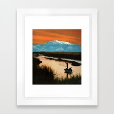 catching the blues Framed Art Print