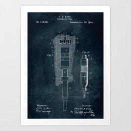 1894 - Pneumatic tool patent art Art Print