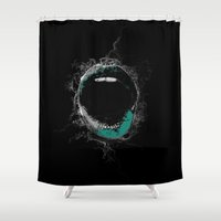 mouth Shower Curtains featuring Mouth by Eponine