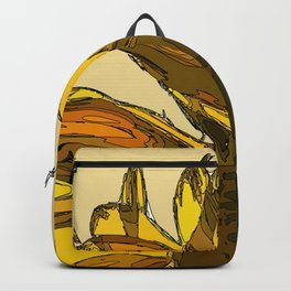 Yellow sunflower painting sketched Backpack