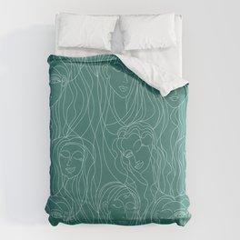 Green Ladies Duvet Cover
