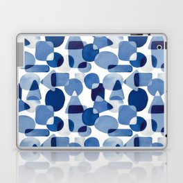 Blue Watercolour Geometric Laptop & iPad Skin