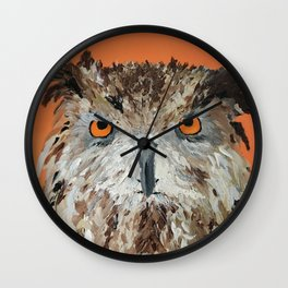 Wise Owl.  Hootie, Who, Who Wall Clock