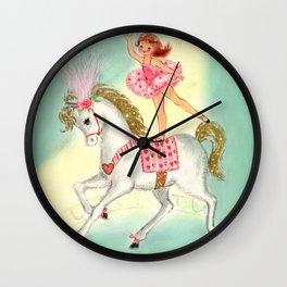 Circus Ballerina on Pony Wall Clock