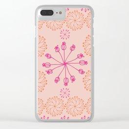 Pinwheel Blush Clear iPhone Case
