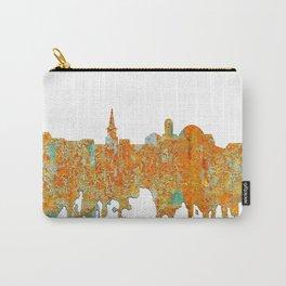 Alexandria, Virginia Skyline - Rust Carry-All Pouch