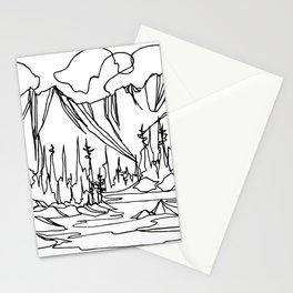 Ice Creek Lake, Valhallas :: Single Line Stationery Cards