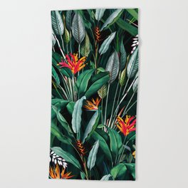 Midnight Garden V Beach Towel