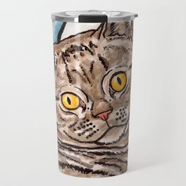 Grey Cat Travel Mug