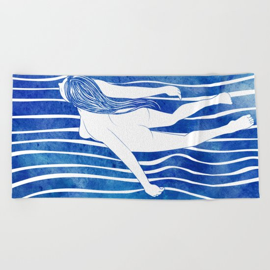 Water Nymph LXIV Beach Towel