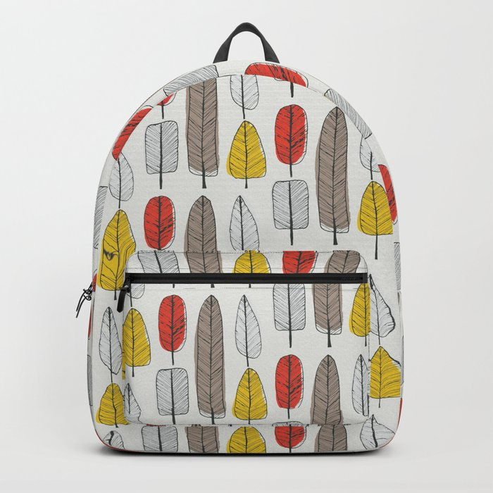 Leaf Pattern Backpack
