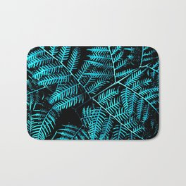 Teal Bracken Bath Mat