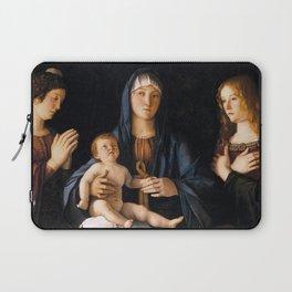 Giovanni Bellini - Madonna col Bambino tra le sante Caterina e Maria Maddalena Laptop Sleeve