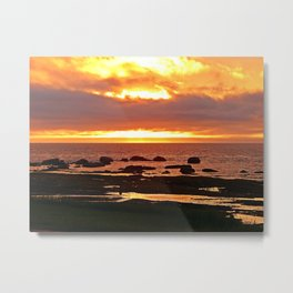 Stunning Orange Sunset Metal Print