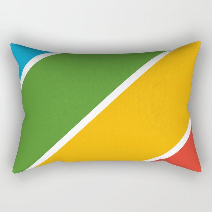 Colorful Diagonal Stripes Rectangular Pillow