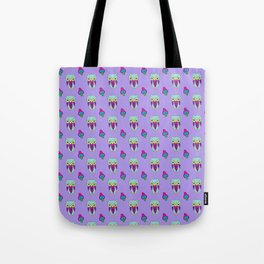 Psychedelic Woodland Mint Owl Tote Bag