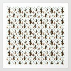 Parisian Chocolate Bunnies Art Print