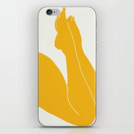 Nude in yellow 3 iPhone Skin