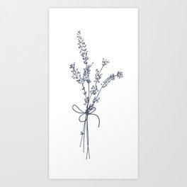 Lovely Lavender Bunch Art Print