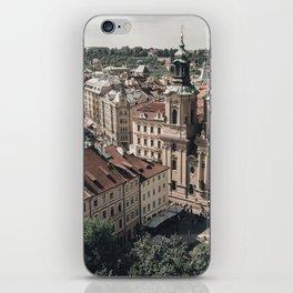 Prague rooftop iPhone Skin