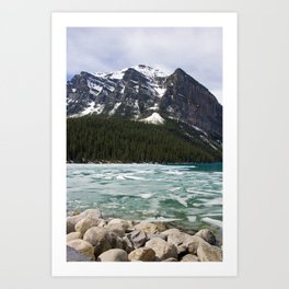 Winter Photography: Frozen Lake - Lake Louse, Banff, Canada Art Print