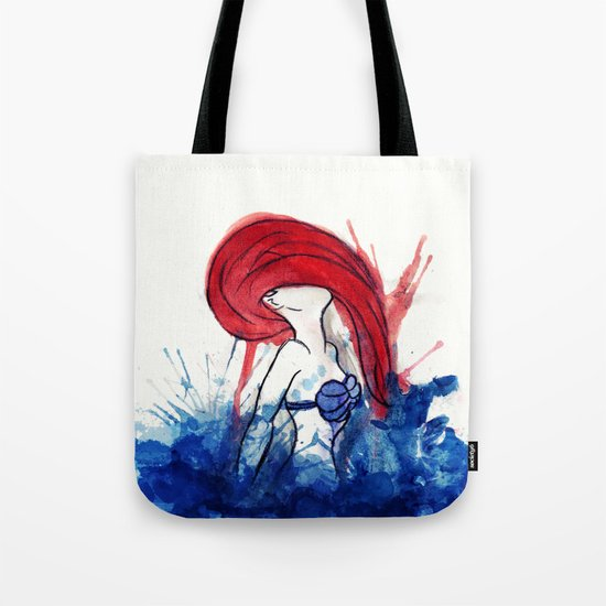 Ariel Splash Tote Bag