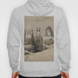 Front elevation of the Great Temple of Aboosimble Nubia  by David Roberts (1796-1864) Hoody