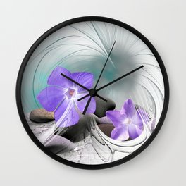 flower design -8- Wall Clock
