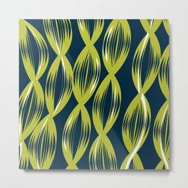 Deep Summer - Large Lime Seaweed Metal Print